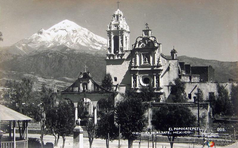 VOLCAN POPOCATEPETL Hacia 1945