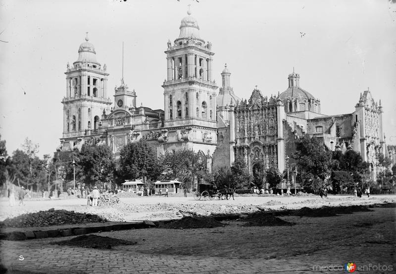 Catedral Metropolitana (por William Henry Jackson, c. 1888)