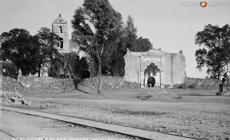 Iglesia de Mexicalcingo (por William Henry Jackson, c. 1887)