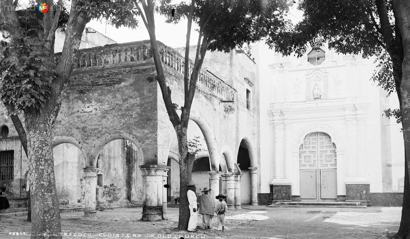 Iglesia en Texcoco (por William Henry Jackson, c. 1888)
