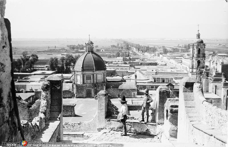 Vista de la Ciudad de México desde la Villa de Guadalupe (por William Henry Jackson, c. 1888)