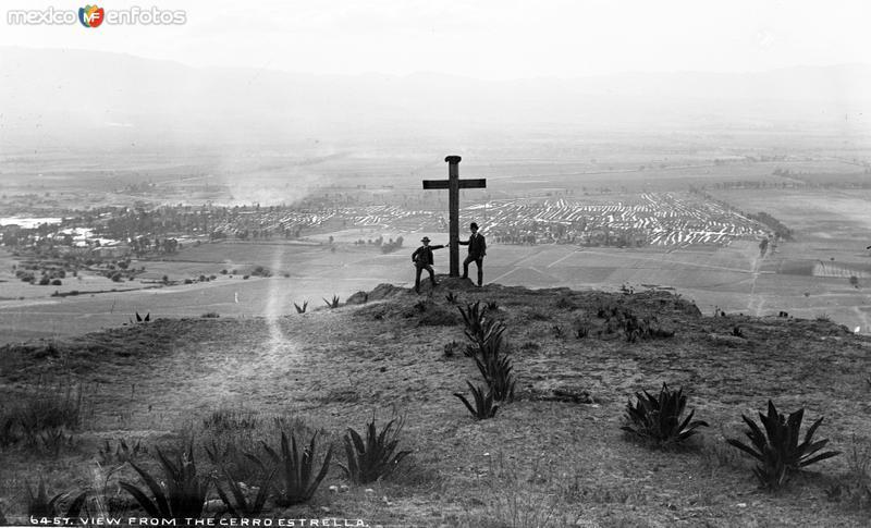 Vista desde el Cerro de la Estrella (por William Henry Jackson, c. 1888)