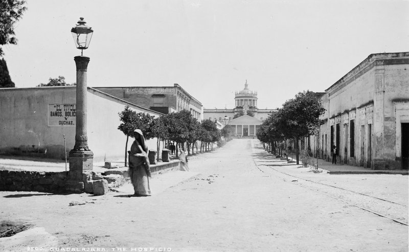 Hospicio Cabañas (Hospital de Belén) (por William Henry Jackson, c. 1887)