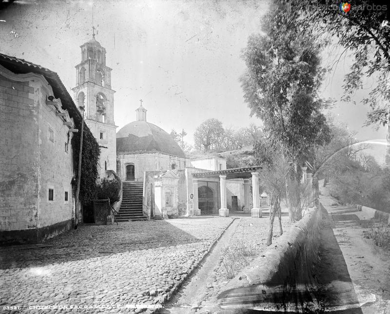 Iglesia del Sacromonte (por William Henry Jackson, c. 1888)
