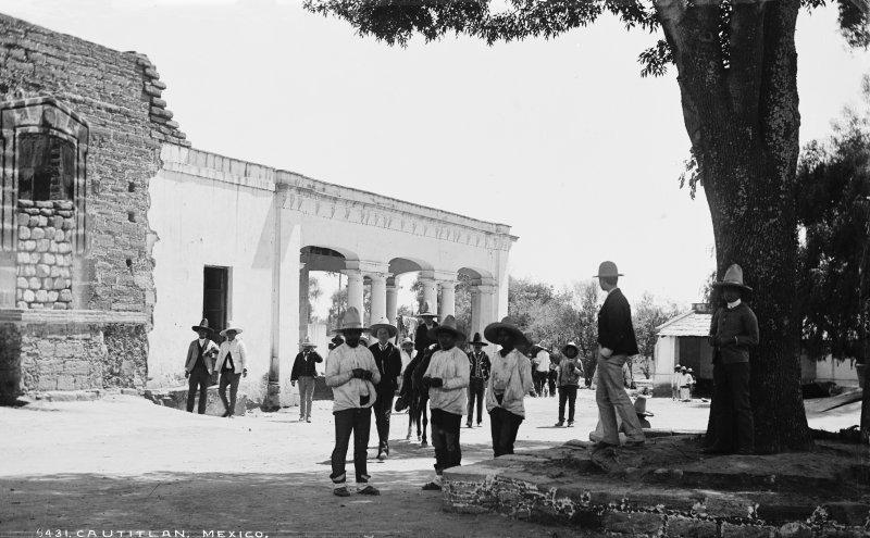 Calles de Cuautitlán (por William Henry Jackson, c. 1888)