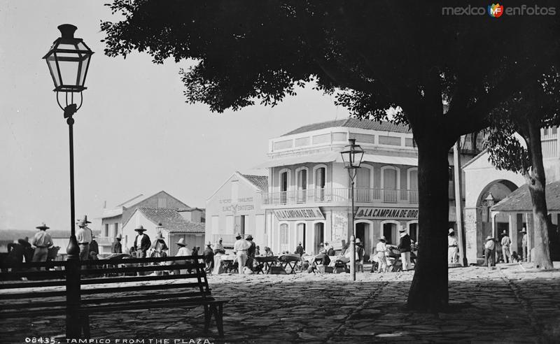 Plaza de Armas de Tampico (por William Henry Jackson, c. 1888)