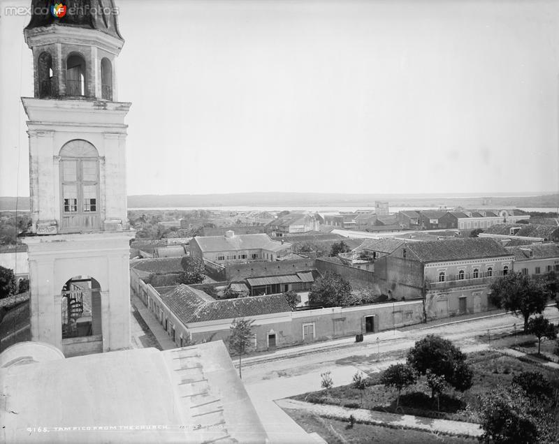 Vista panorámica de Tampico desde la Catedral (por William Henry Jackson, c. 1888)