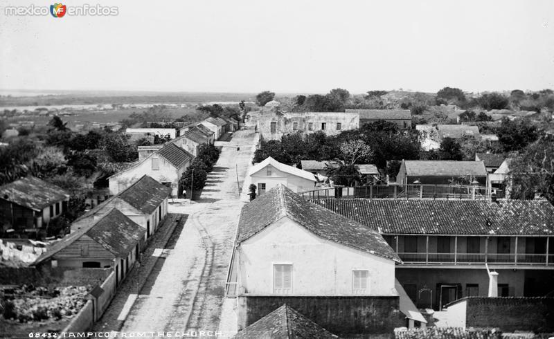 Vista panorámica de Tampico desde la Catedral III (por William Henry Jackson, c. 1888)