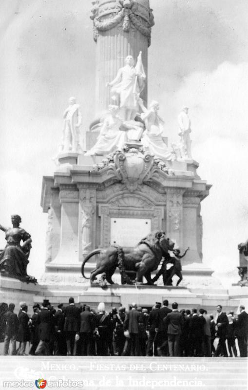 Fiestas del Centenario: Columna de la Independencia