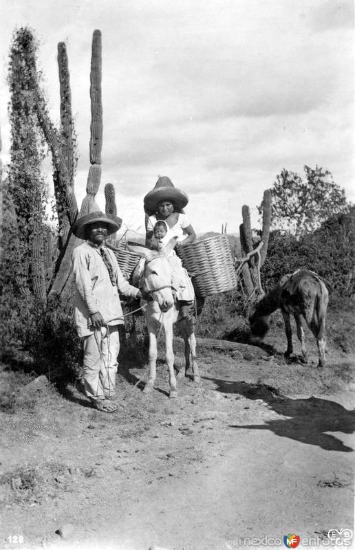 Familia indígena en Oaxaca