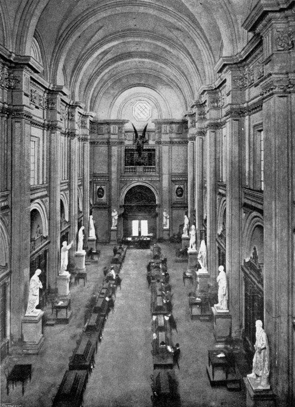 Interior de la Biblioteca Nacional