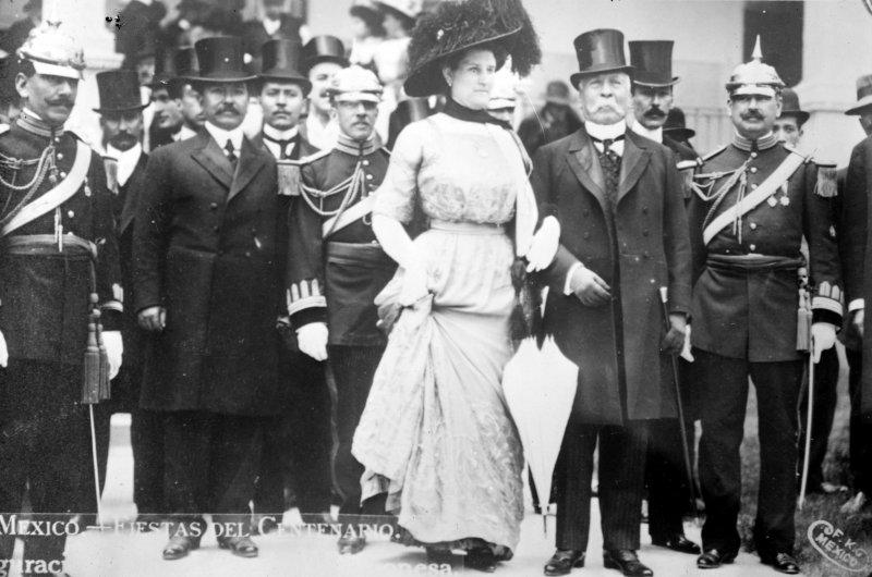 Porfirio Díaz en las fiestas del centenario de la independencia (Bain News Service, 1910)