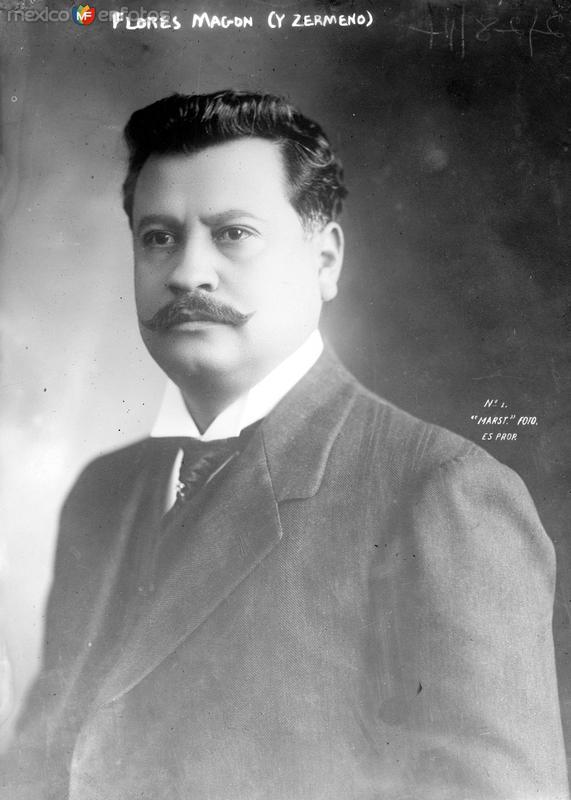Periodista revolucionario Ricardo Flores Magón (Bain News Service, 1914)
