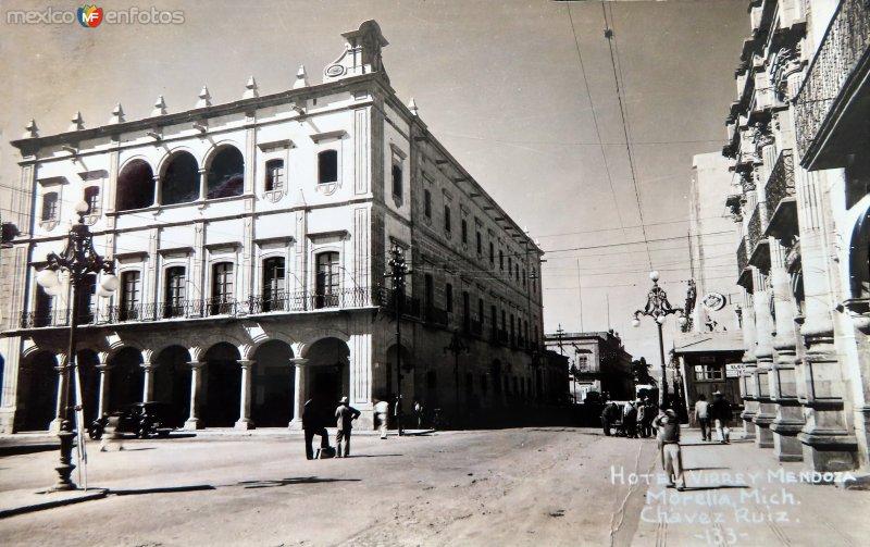 HOTEL VIRREY DE MENDOZA Hacia 1945