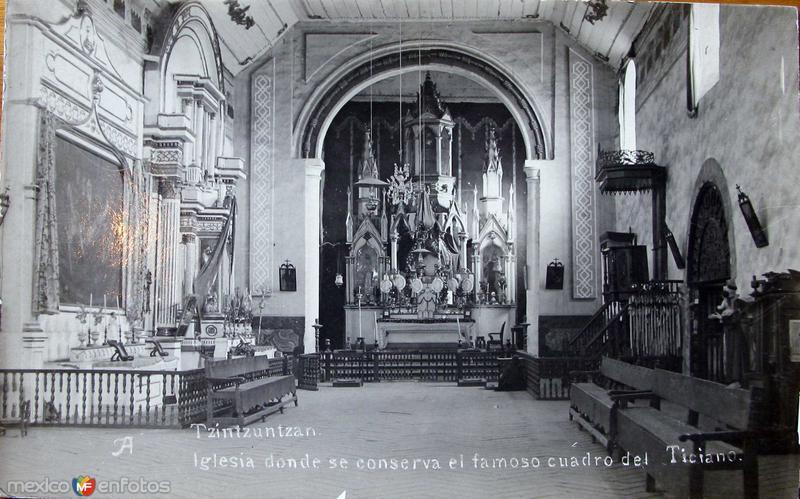 INTERIOR DE LA IGLESIA Hacia 1945