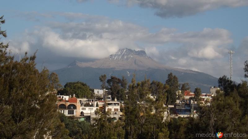 El volcán la Malintzin desde Tlaxcala. Enero/2014