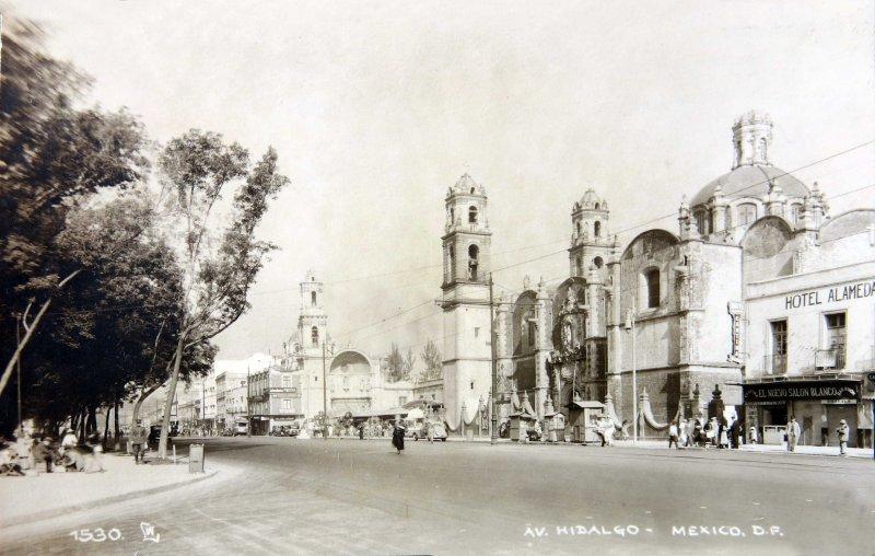 Avenida HidalgoHacia 1945