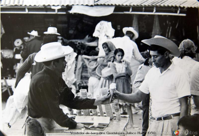 Vendedor de barquillos Guadalajara Jalisco Hacia 1950