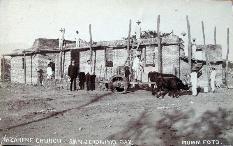 CONSTRUCCION DE IGLESIA Hacia 1930