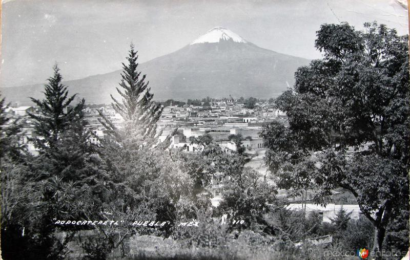 PANORAMA VOLCAN POPOCATEPETL Hacia 1945