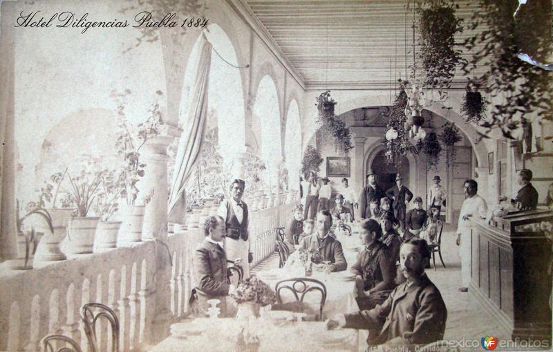 HOTEL DILIGENCIAS hacia 1900