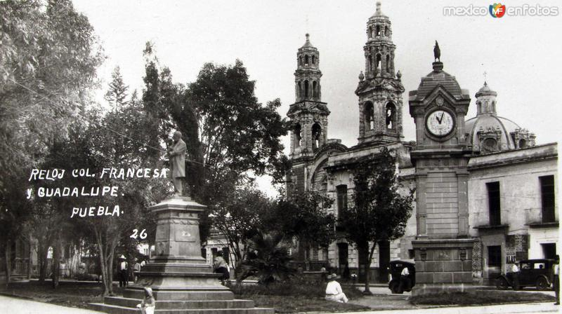 RELOJ COL. FRANCESA E IGLESIA Hacia 1920