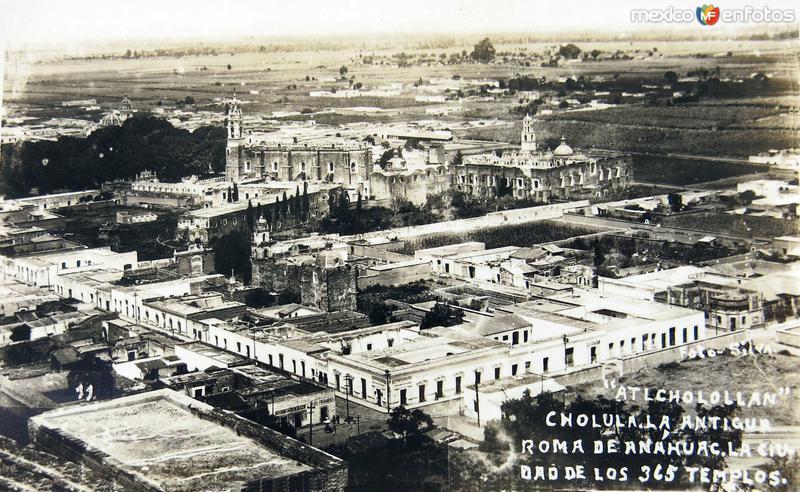 ATLCHOLOLLAN PANORAMA Hacia 1930