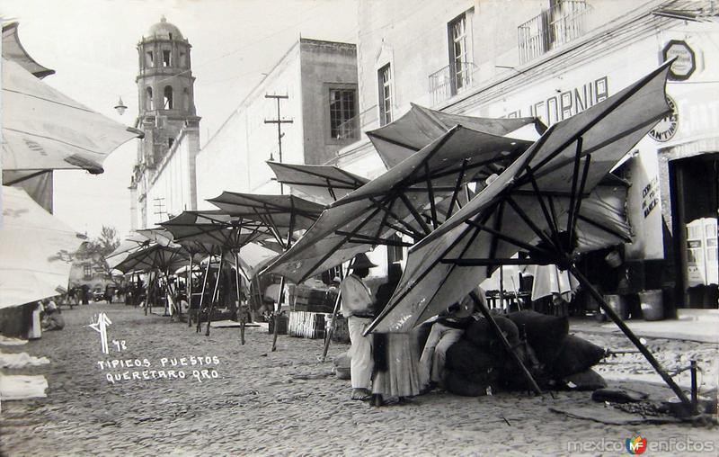 TIPICOS PUESTOS PANORAMA Hacia 1930