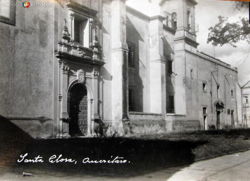 TEMPLO DE SANTA CLARA Hacia 1945