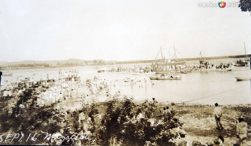CELEBRACION DEL CENTENARIO 16 DE SEPTIEMBRE DE 1910 LA PLAYAHacia 1910