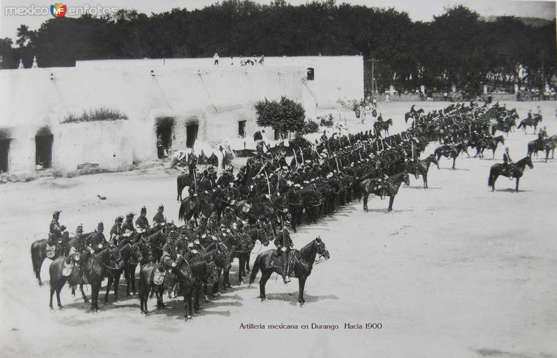 Artilleria mexicana en Durango Hacia 1900