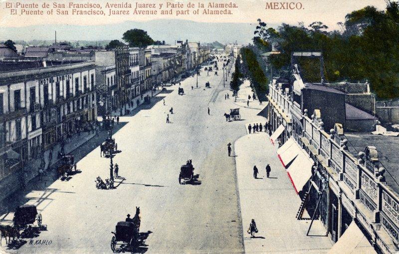 Puente de San Francisco, Avenida Juárez y parte de la Alameda