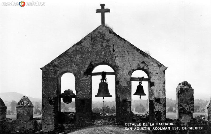 Detalle de la fachada de San Agustín Acolman