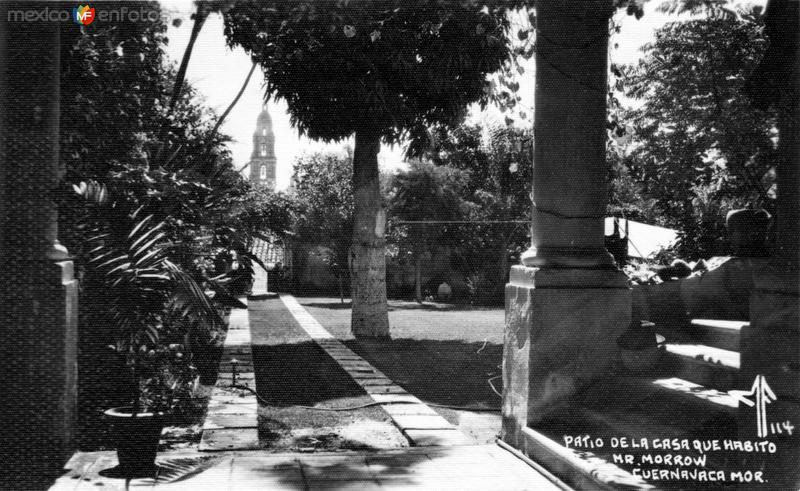 Patio de la Casa del embajador Morrow
