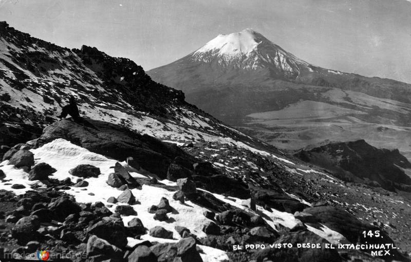 Volcán Popocatépetl visto desde el Iztaccíhuatl