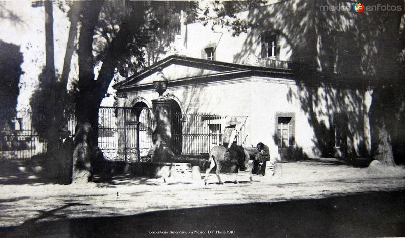 Cementerio Americano en Mexico D F Hacia 1910