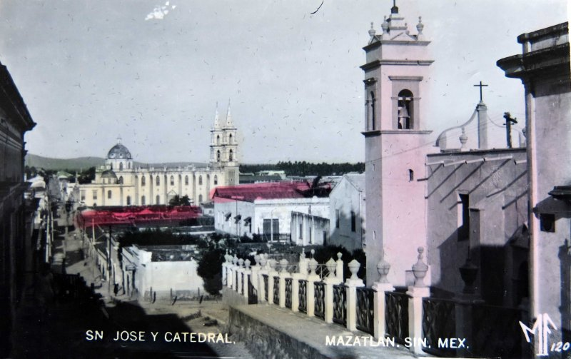 IGLESIA DE SAN JOSE Y CATEDRAL PANORAMA Hacia 1940