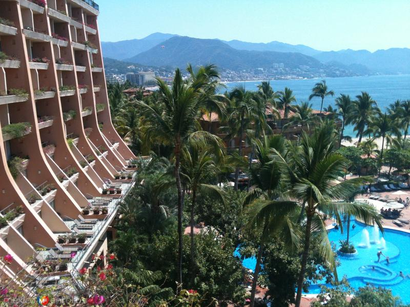 Bahía de Banderas desde el Hotel Fiesta Americana. Abril/2015
