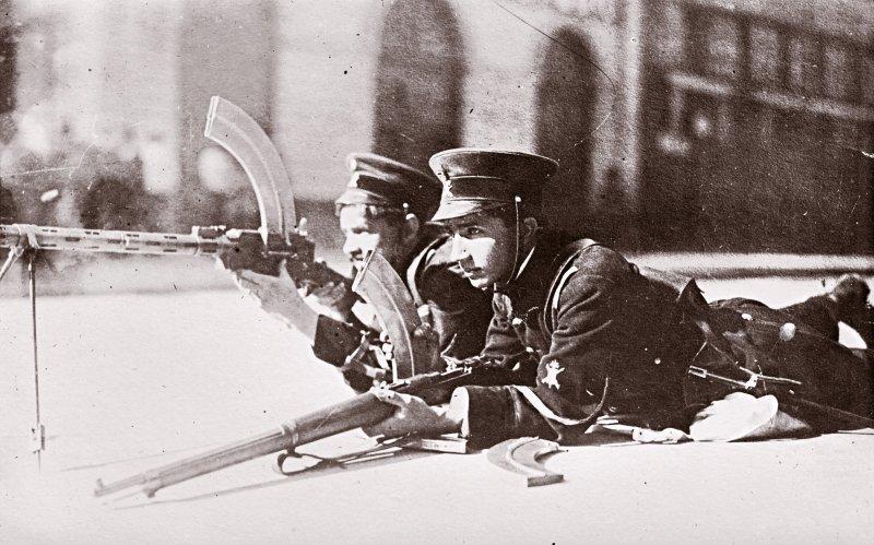 Soldados federales durante la Decena Trágica (1913)