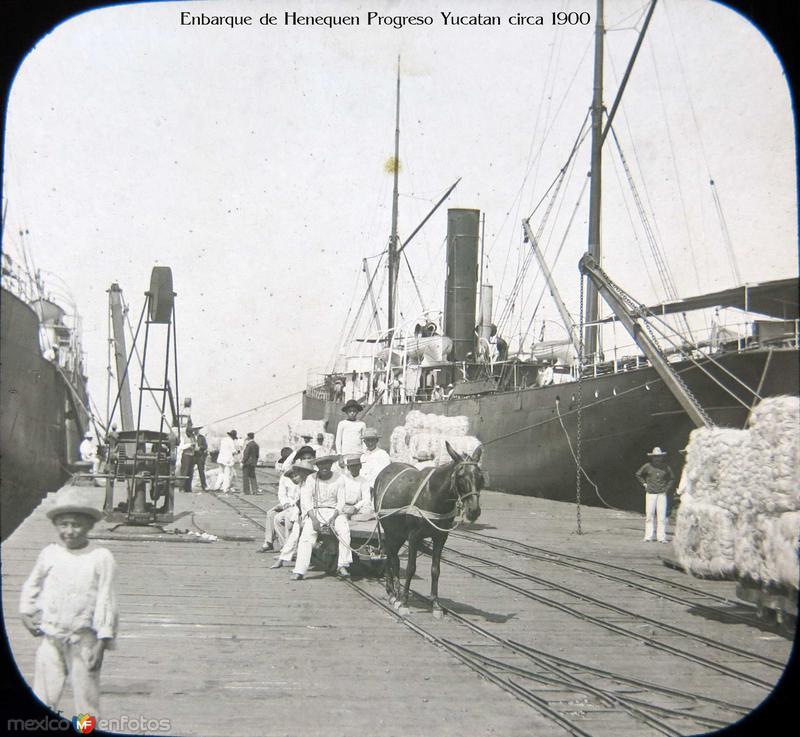 Enbarque de Henequen Progreso Yucatan