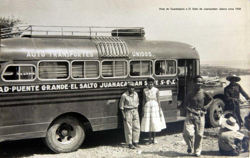 Ruta de Guadalajara a El Salto de Juanacatlan Jalisco circa 1939