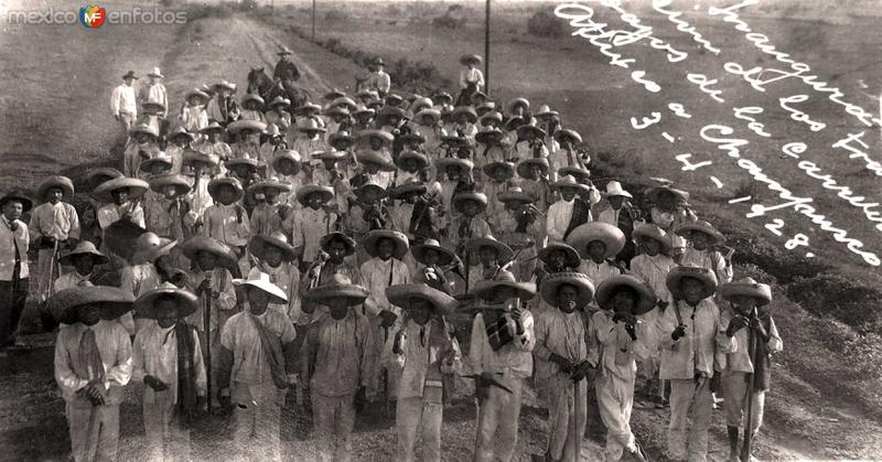INAGURACION DE LA CARRETERA DE ATLIXCO A CHAMPUSCO MAYO DE 1928
