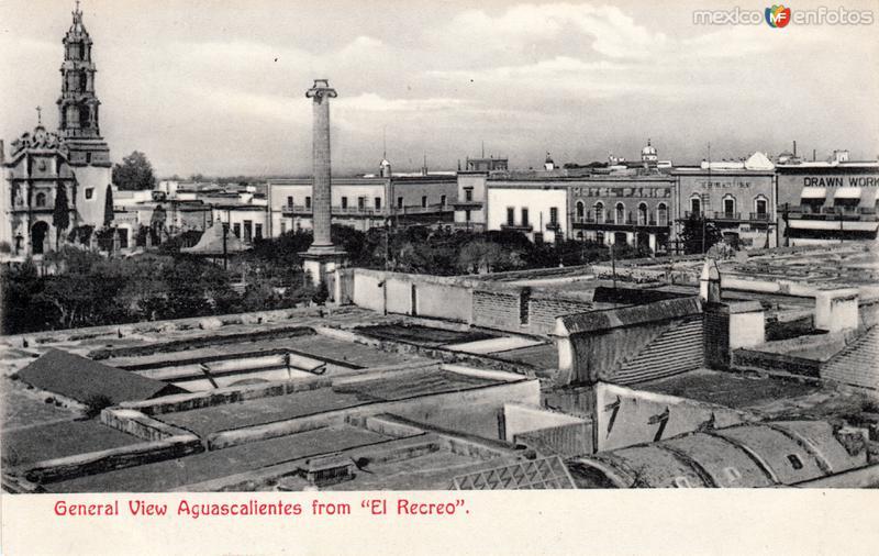 Vista panorámica de Aguascalientes, desde El Recreo