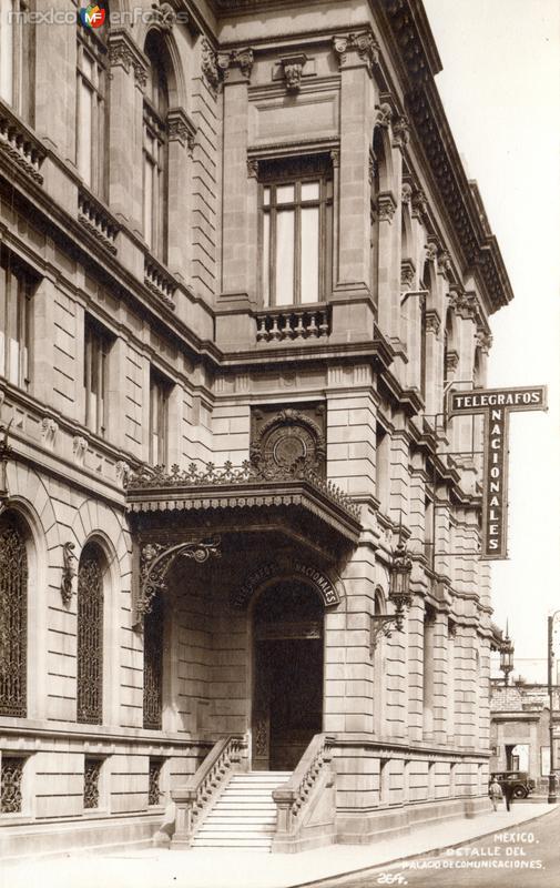 Detalle del Palacio de Comunicaciones - Telégrafos Nacionales