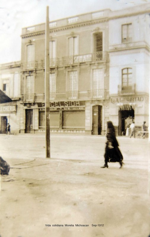 Vida cotidiana Morelia Michoacan Sep-1912