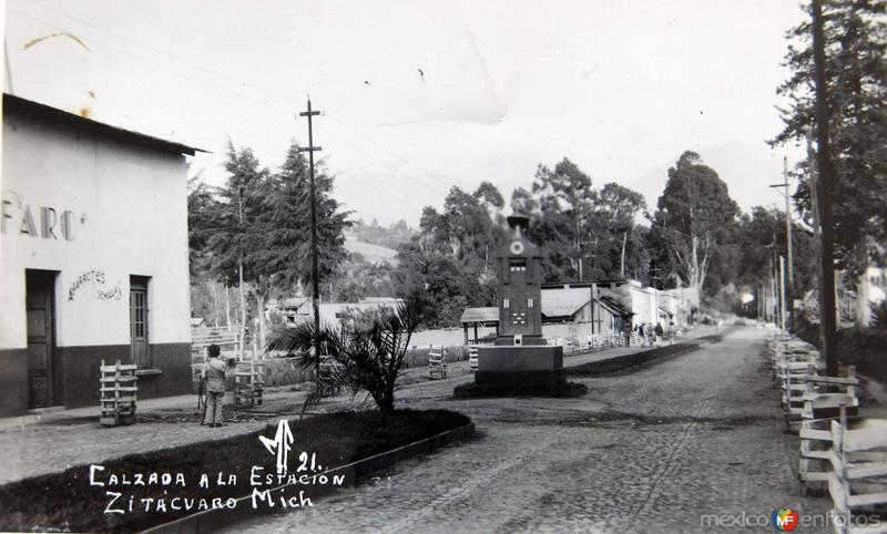 CALZADA DE LA ESTACION hacia 1930-1950