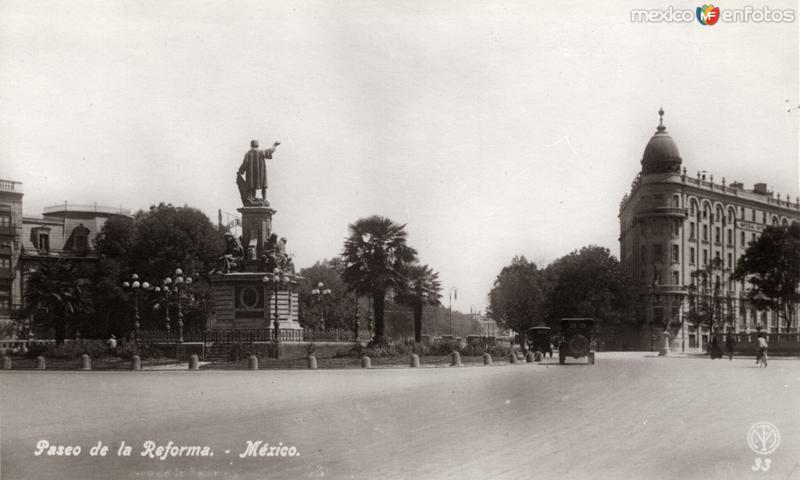 Paseo de la Reforma: Glorieta Colón y Hotel Imperial