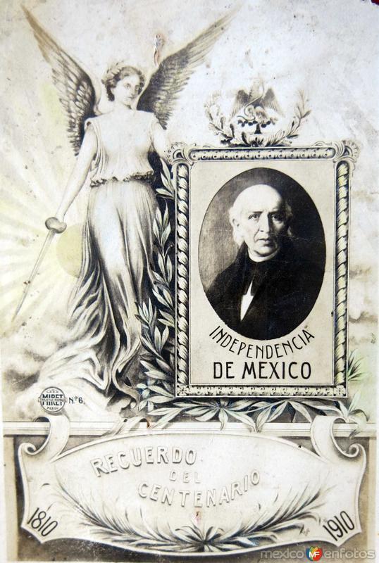 TARJETA CONMEMORATIVA DEL CENTENARIO por elfotografo FELIX MIRET- SEPTIEMBRE DE 1910