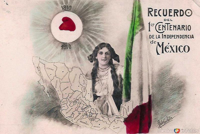 ESCUDO NACIONAL Y RECUERDO DEL PRIMER CENTENARIO Septiembre de 1910