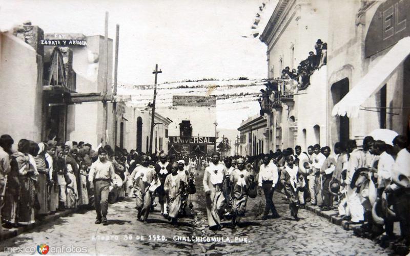 La fiesta del pueblo 30 de Agosto de 1920